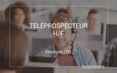 Téléprospecteur (H/F) Elancourt