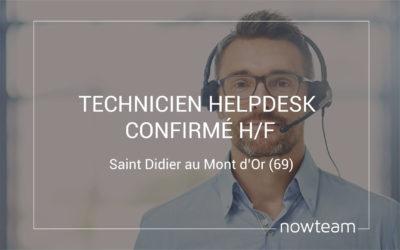 Technicien Helpdesk confirmé (H/F) Saint Didier au Mont d'Or