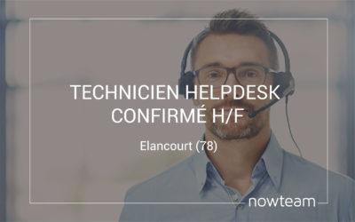 Technicien Helpdesk confirmé (H/F) Elancourt