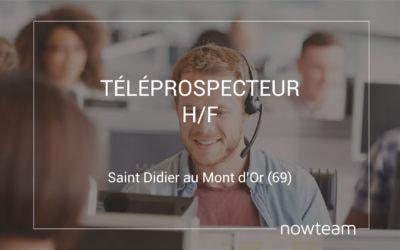 Téléprospecteur (H/F) Saint Didier au Mont d'Or