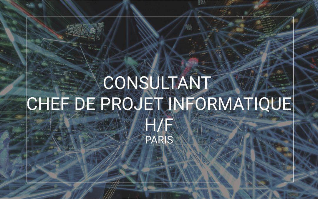 Consultant chef de projet informatique Paris (H/F)