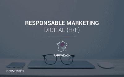 Responsable marketing digital (H/F)