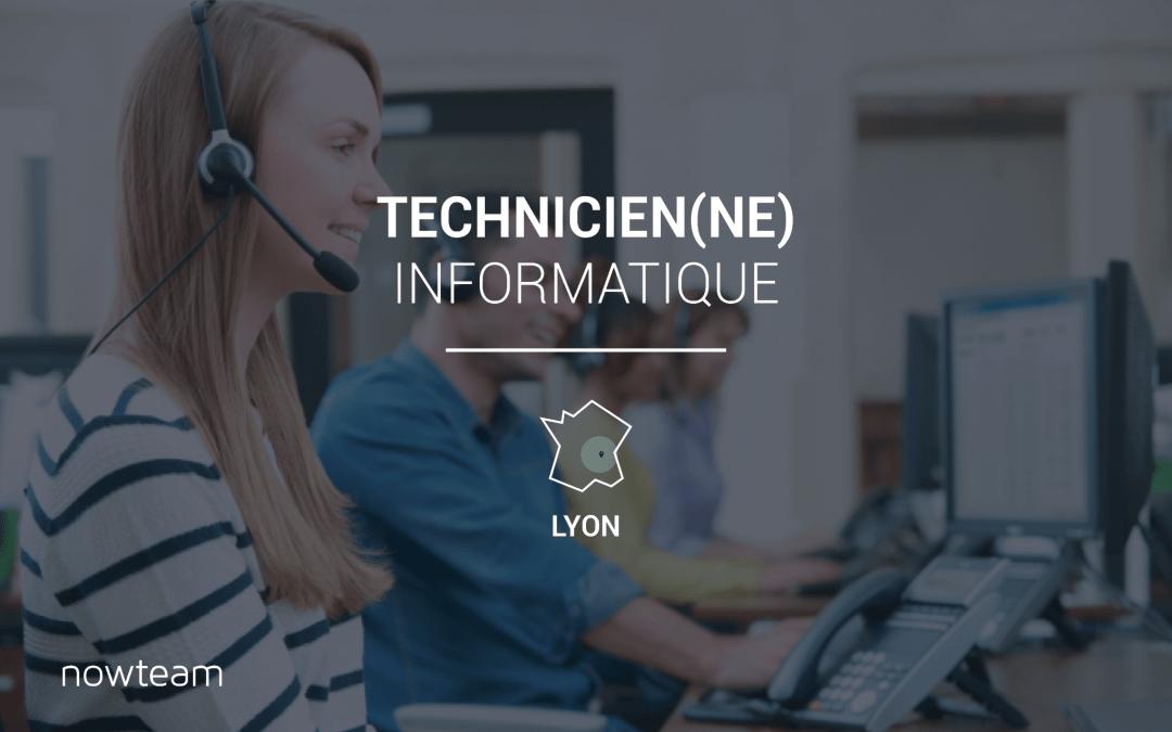 Technicien informatique sédentaire Lyon (H/F)