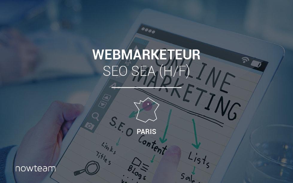 Webmarketeur SEO SEA (H/F) PARIS